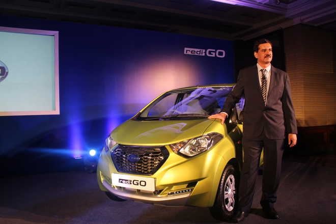 Interaction with Arun Malhotra, MD, Nissan Motor India on the launch event of Redi-Go